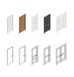 icons doors vector image