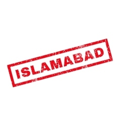 Islamabad Rubber Stamp vector