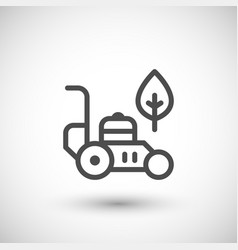lawn mower line icon vector image