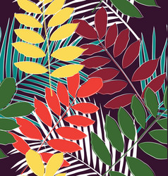 leaf seamless pattern3 vector image
