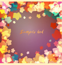 leaves on purple background with space for text vector image