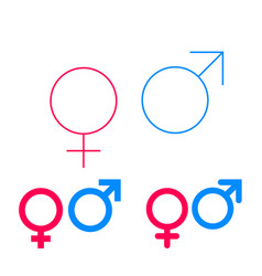 Male and female isolated gender symbols vector