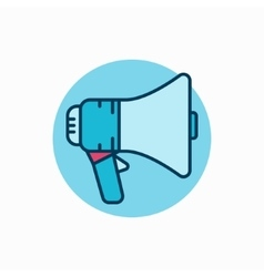 Megaphone colorful icon vector image