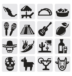 mexican set vector image