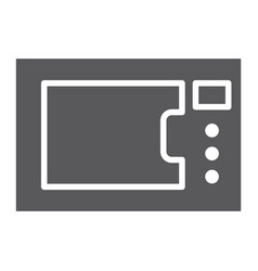 microwave oven glyph icon kitchen and electric vector image