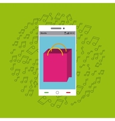 mobile music commerce online vector image