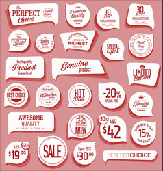 modern badges and labels collection vector image
