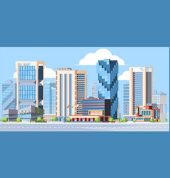 modern city landscape colorful flat vector image
