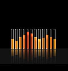 Music in transparent equaliser bar vector