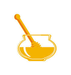 natural honey isolated icon vector image