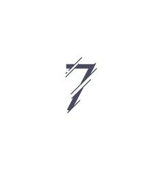 Number 7 template design vector