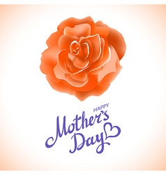 Orange rose Happy Mothers Day Beautiful Blooming vector