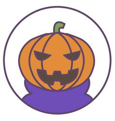 Pumpkin avatar pumpkin head icon evil pumpkin vector