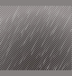 rain effect on transparent grid background vector image