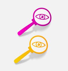 Realistic design element detective vector