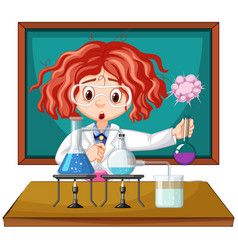 Scientist working with science tools in lab vector
