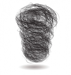 scribble pile vector image