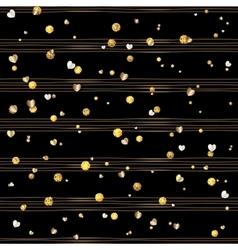 Seamless pattern of random gold balls vector image