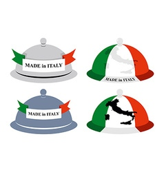 Set kitchen Cloche Italian Cover for hot dishes vector image