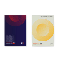 Set posters with simple shape in bauhaus style vector
