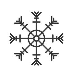 Snowflake season icon vector