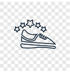 sport shoe concept linear icon isolated on vector image