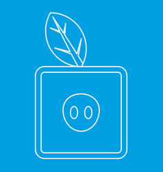 Square apple icon outline style vector