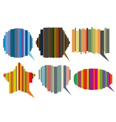 Striped speech bubbles vector