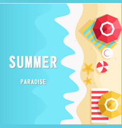 Summer paradise the beach vertical background vect vector