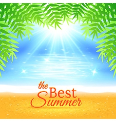 Summer Sea Background vector image