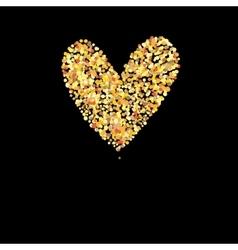 Symbol golden heart vector image