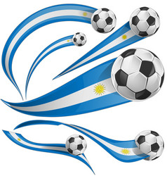 uruguay flag set with soccer ball vector image