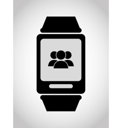 Wearable mobile technology vector image