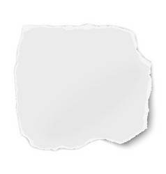white paper fragment with torn edges for memo vector image