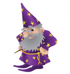 Wizard cartoon vector