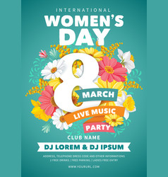 womens day party flyer vector image