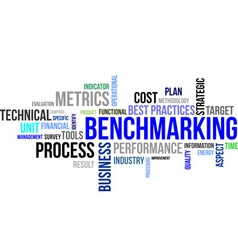 word cloud benchmarking vector image
