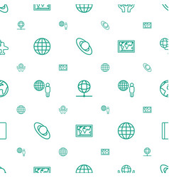 world icons pattern seamless white background vector image