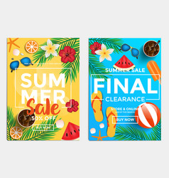 sale and discount flyers - summer sale vector image vector image