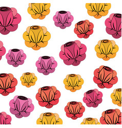 beautiful spring roses icon vector image