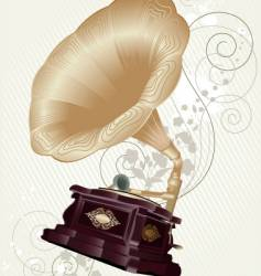 gramophone retro stile vector image