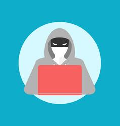 hacker icon simple colors vector image