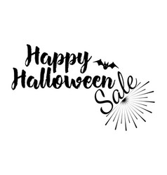 halloween greeting card calligraphy vector image