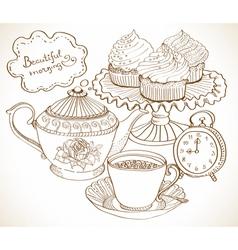 morning breakfast vector image vector image