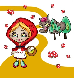 red riding hood vector image