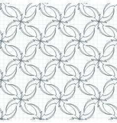 seamless pattern of volumetric arrows on vector image vector image