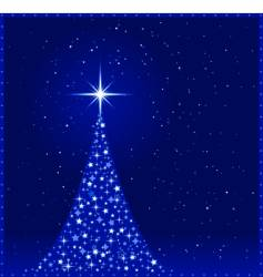 Square blue christmas tree vector