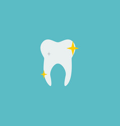 tooth icon flat element of vector image vector image