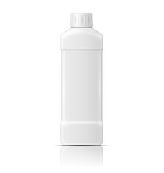 White plastic bottle for dishwashing liquid vector image vector image