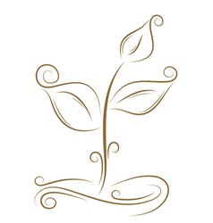 floral sprout sketch vector image vector image